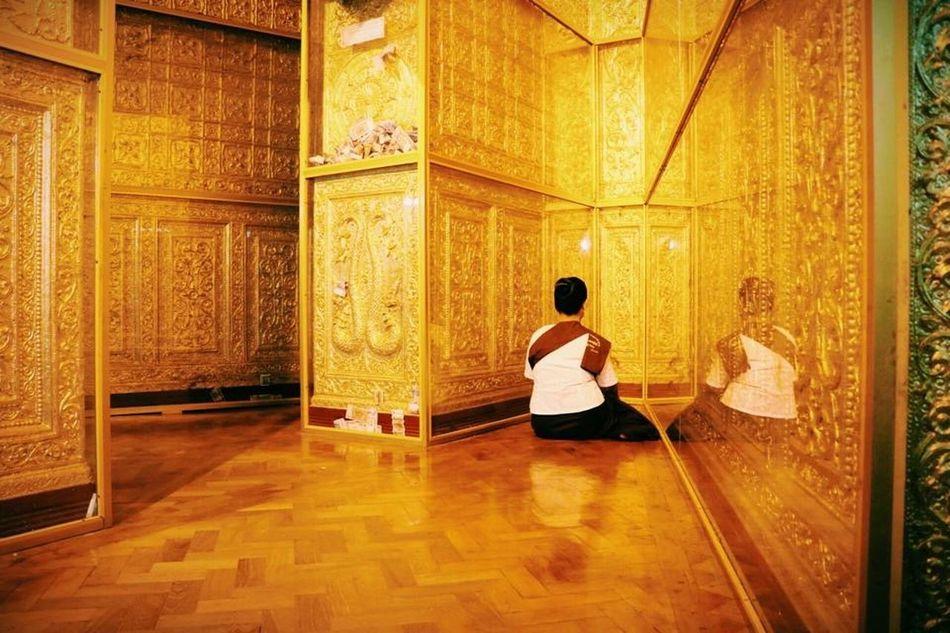 Mediation.....Peaceful moment in Myanmar Peaceful Myanmar Scence Meditation Golden Light Moments