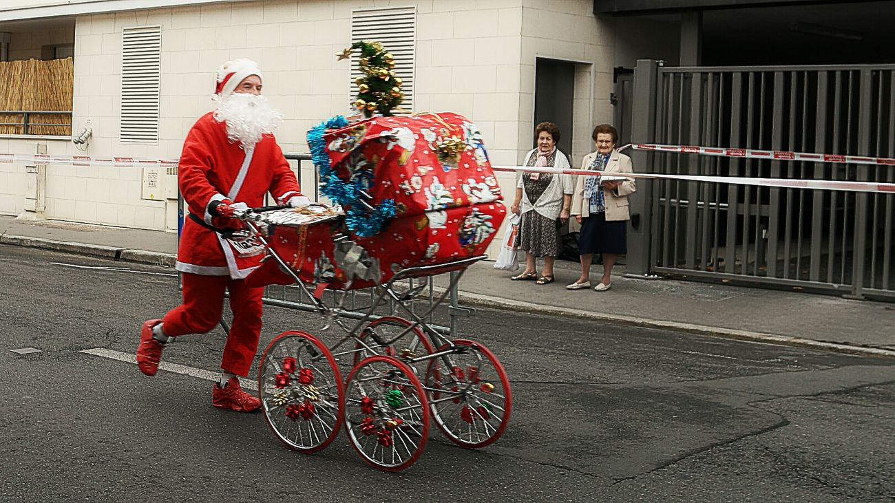 Beautiful stock photos of santa claus,  30-34 Years,  65-69 Years,  Architecture,  Baby Carriage
