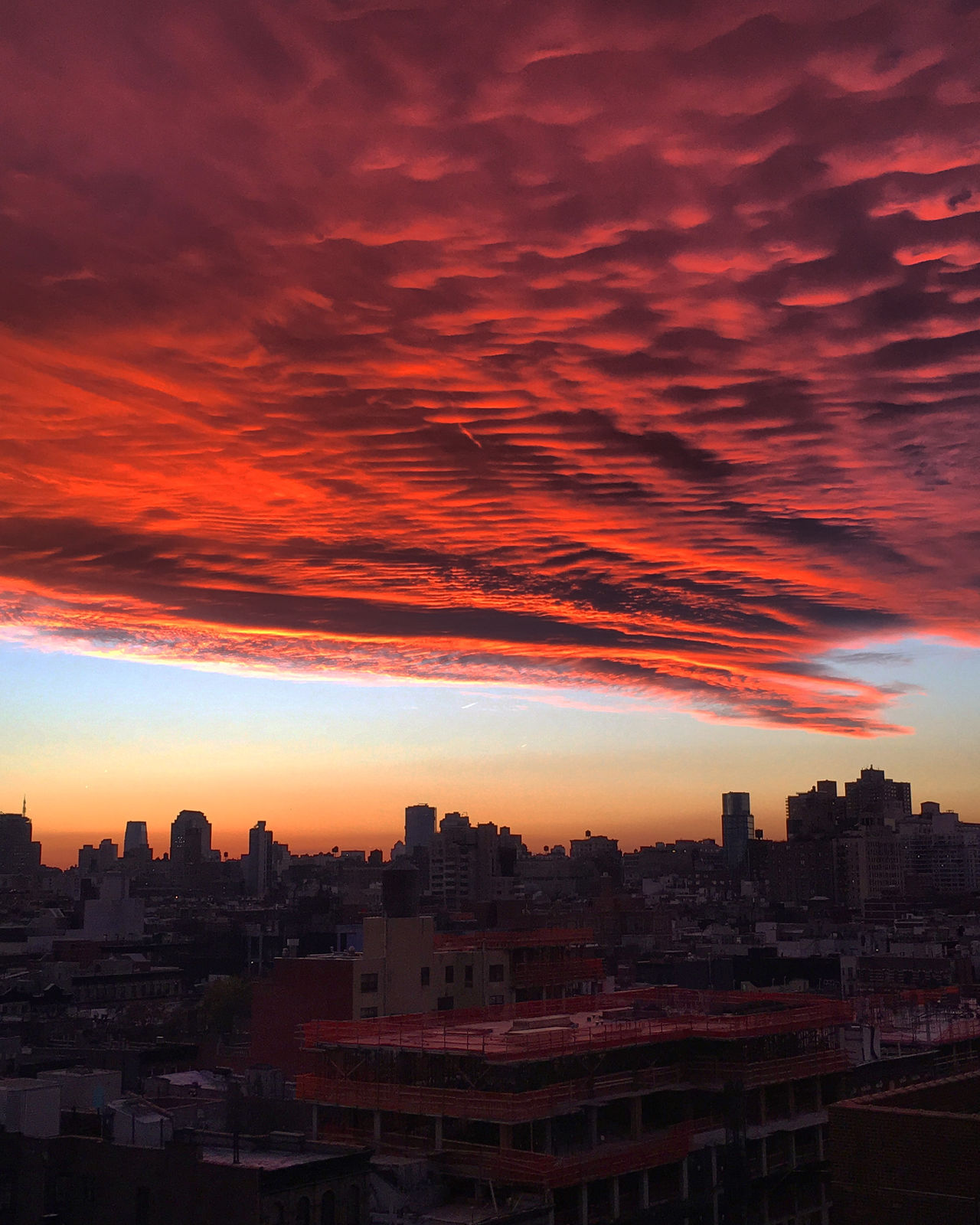 Brilliant Sky Architecture Beauty In Nature Building Exterior City Cityscape Cloud - Sky Nature No People Orange Color Outdoors Sky Sky And Clouds Skyline Sunset Urban Skyline