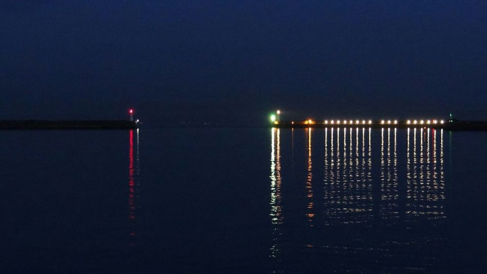 Learn & Shoot: After Dark Pier Entrance Pier Night Lights Ladyphotographerofthemonth Water Reflections Seaside Landscapes With WhiteWall On The Way