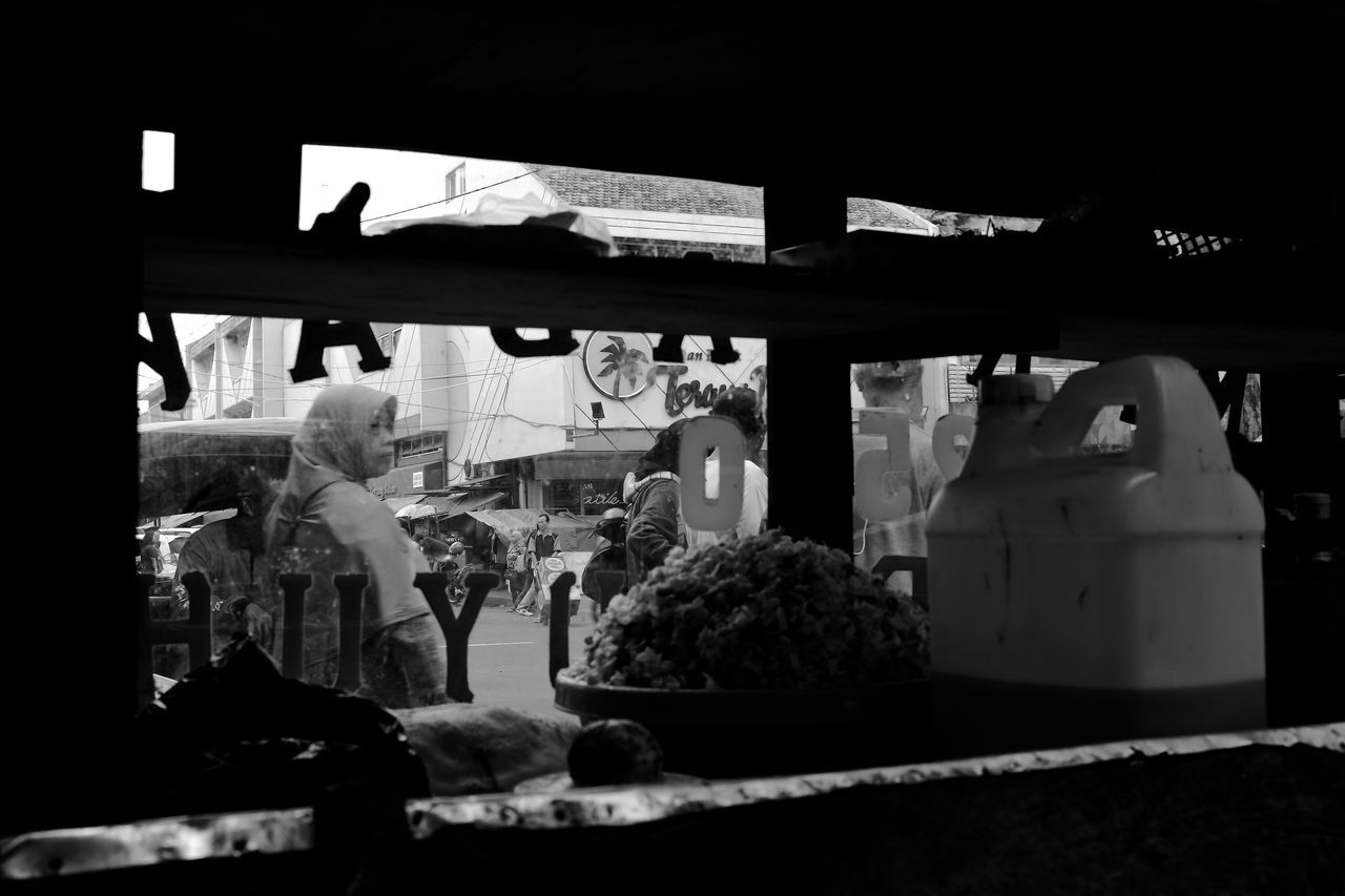 B&w Street Photography Black And White Busy Strangers Candid City Life Day Going Places INDONESIA Monochrome Travel Urban Lifestyle The Street Photographer - 2017 EyeEm Awards Street Food Asian Culture Window Kaki Lima Yogyakarta