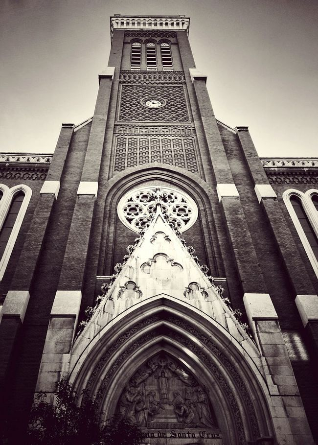 Architecture Architecture_bw Old Buildings SPAIN Black And White Church Walking Around Brick Wall Black & White