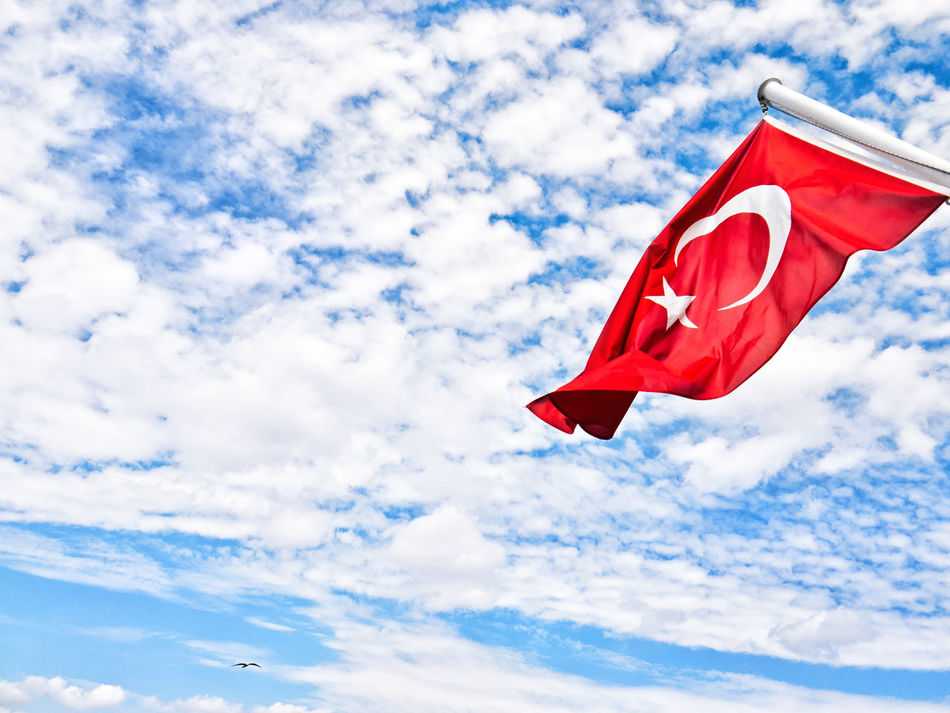 Colors And Patters Flag Red Flag Redflag Türkiye Turkishflag Turkish Turkey Blue Red Blue Sky Goodbye Clouds And Sky Cloudscape Clouds Space