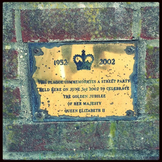 Commemorative Jubilee wall bling.