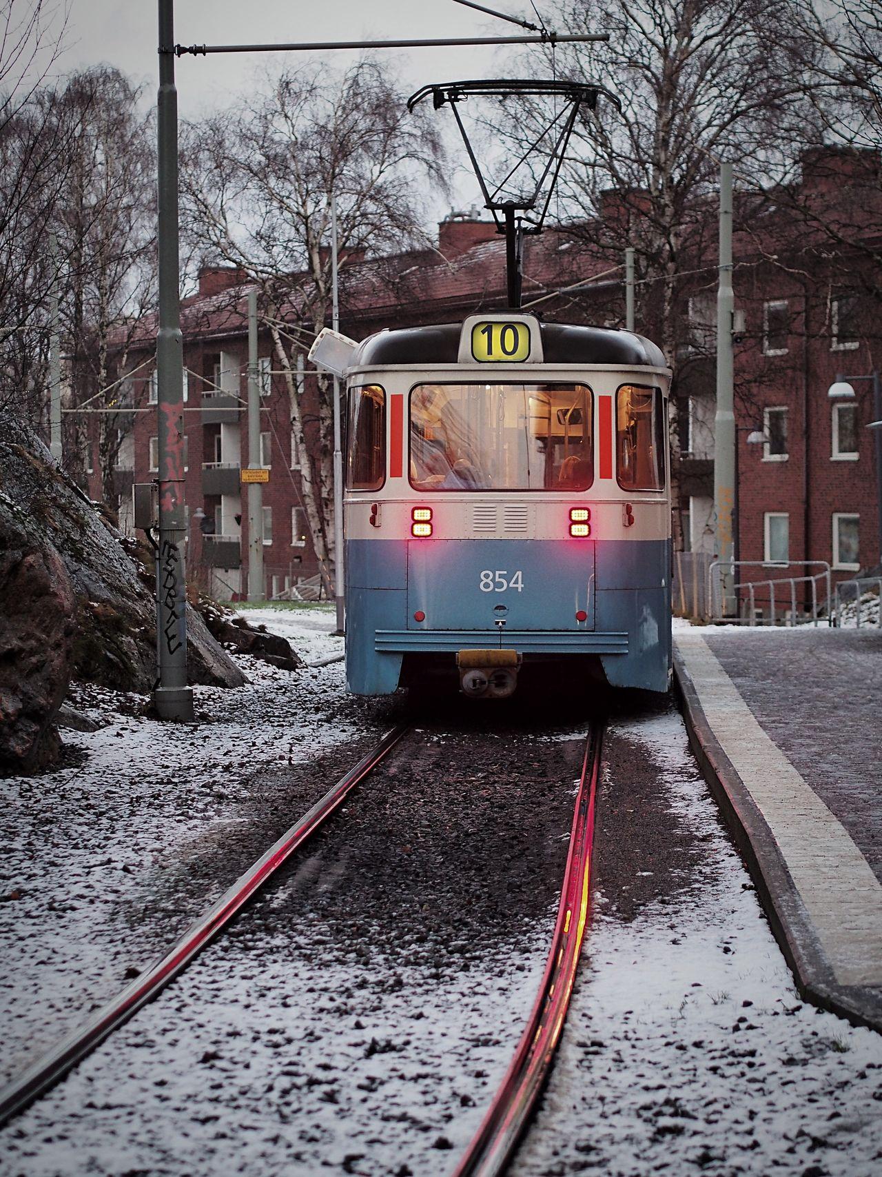 Old Tram Snow M.Zuiko 45mm 1:1,8