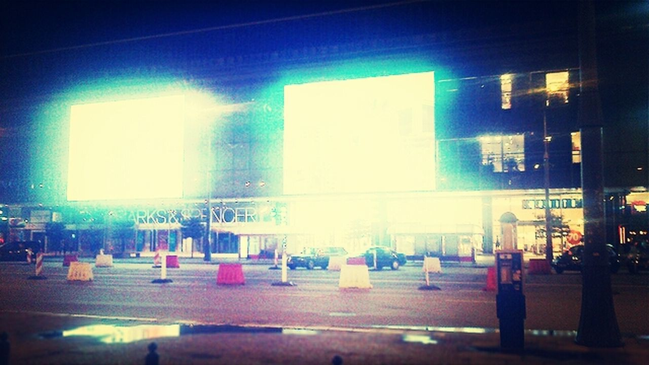 illuminated, no people, architecture, built structure, indoors, night, building exterior, city