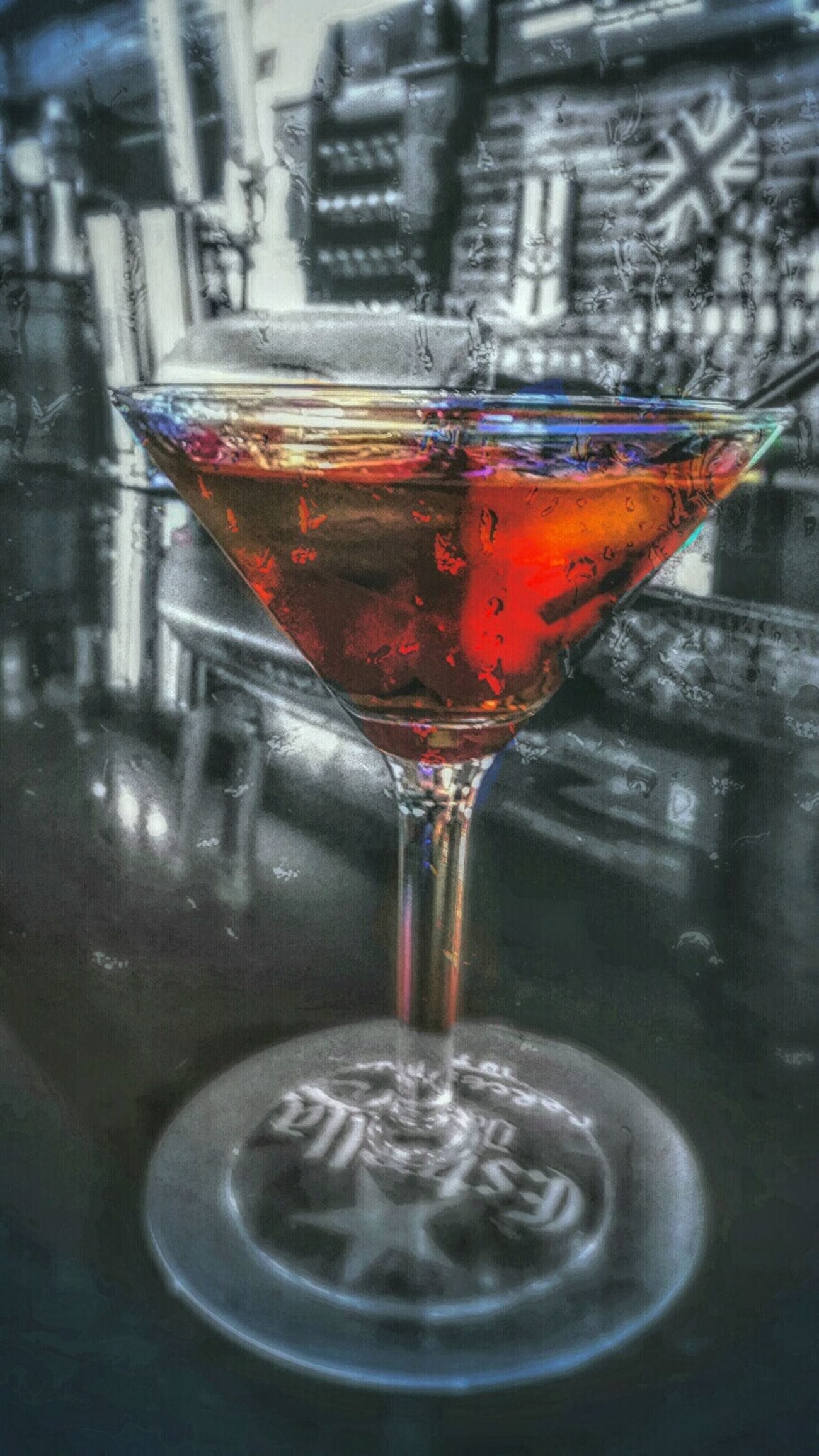 Colorsplash Color Explosion HDR Martini Alcoholic Drink Creativeedit