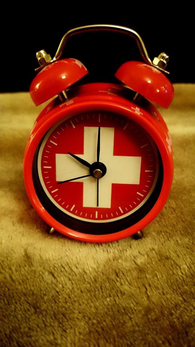It's time. Clock AlarmClock Swissclock Switzerland Somethingred Time Timetosleep