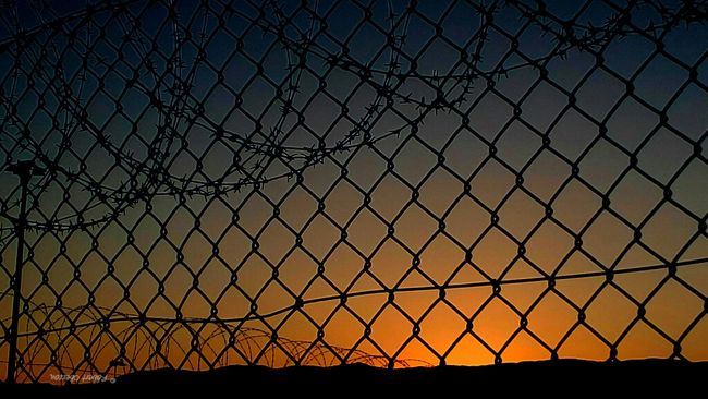 No trespassing Fences Sunset Tadaa Community Sunset Silhouettes PhonePhotography Sky From Where I Stand Theotherside