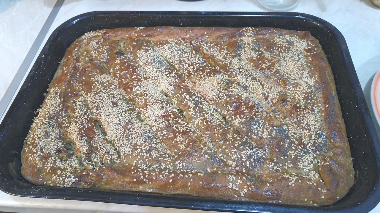 My Traditional Greek Spinach Pie With Feta And Yeast  Zymè Taking Photos Home Is Where The Art Is Food Taking Care Of Family Hanging Out Enjoying Life Hello World Ready-to-eat Colour Of Life Hidden Gems