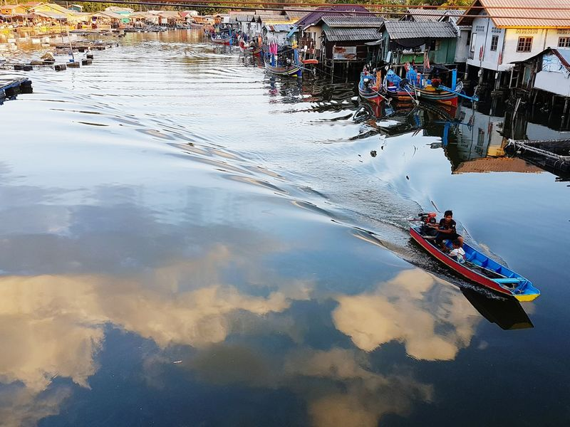 fishermen village Reflection Water Waterfront Day Tranquility Tranquil Scene Standing Water Scenics Development Riverbank
