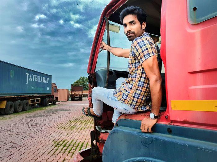 Robinraj Men Beard Cold Temperature Sky Truck EyeEm Selects Let's Go. Together.