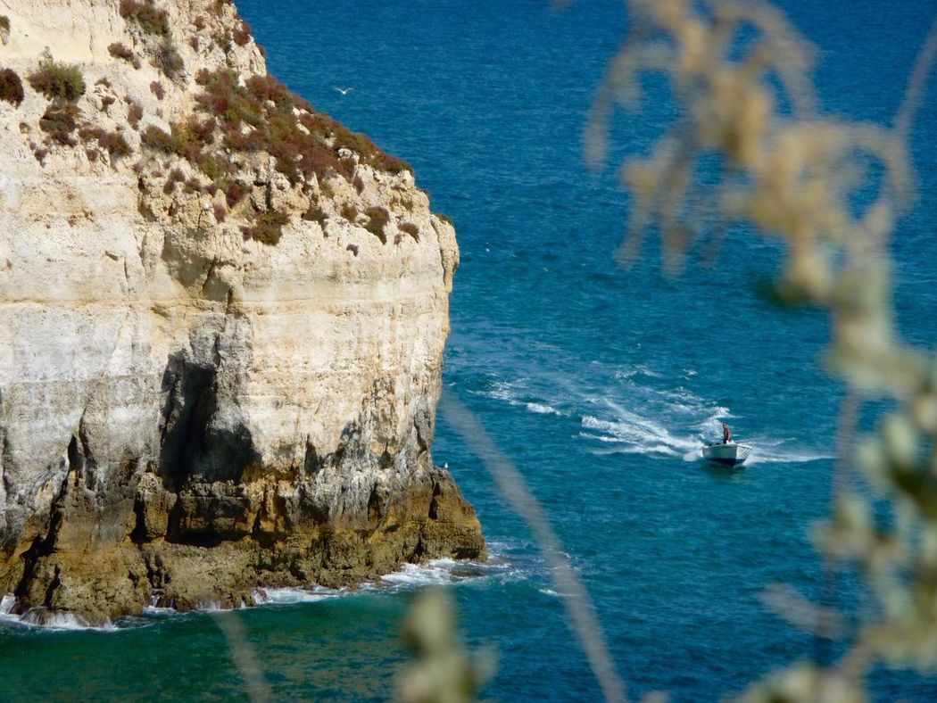 Algarve Portugal 🇵🇹 Landscape EyeEm Nature Lover EyeEmNewHere EyeEm Colors Ocean Sun Beauty In Nature Blue Transportation Mode Of Transport Outdoors EyeEmNewHere