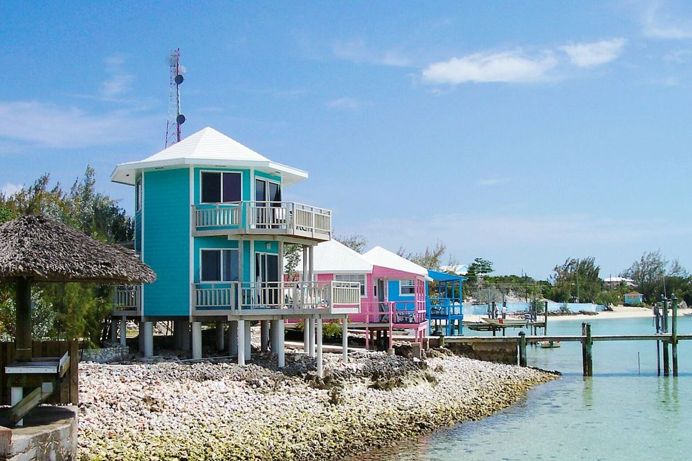 StanielCay Exuma Bahamas Tropical Island Tropical Paradise Seeing The Sights Carribean Pink Buildings Pink Building