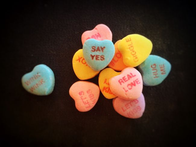 Valentine's Day  Candy Hearts Pastel Colors Be My Valentine I Love You Be Mine Sayyes Pastel Power IPhoneography