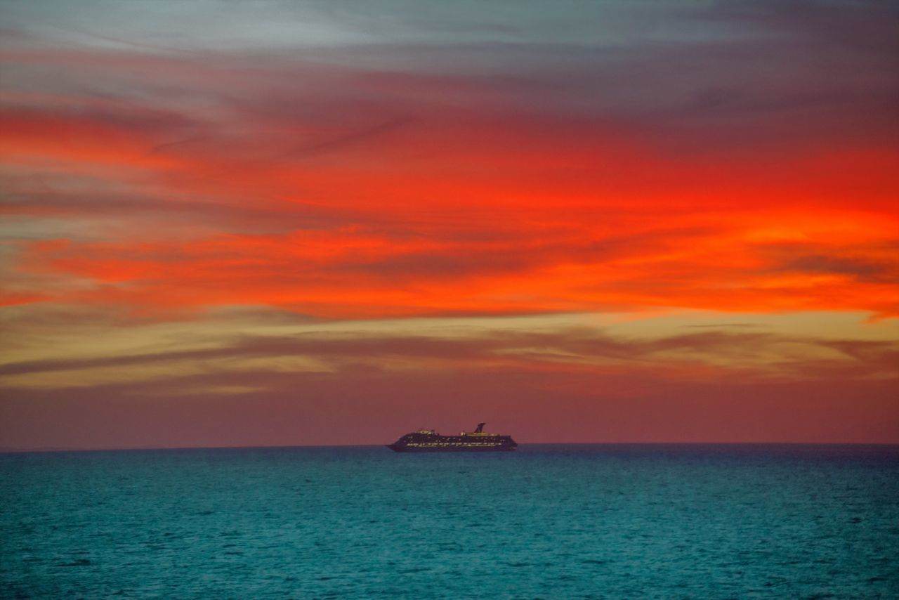 """Sunset Cruise"" Carribean Sunset Carribean Sunset Cruise Colorful Sky And Clouds Cruise Ship Photos Cruiseship Cruiseshipphotography Ocean Landscape Ocean Landscapes Ocean Sunset  Ocean Sunsets"