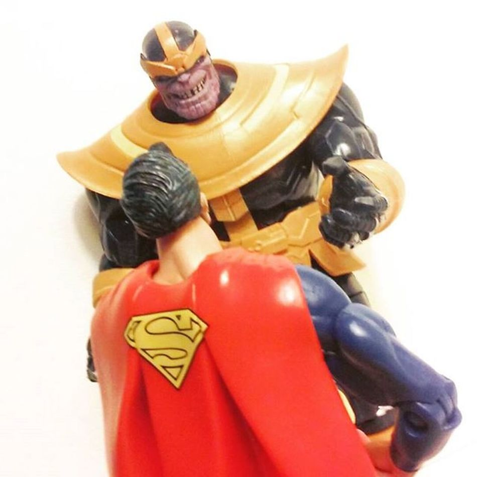 """Foolish human you think you alone can challenge me?"" Toyscrewbuddies Toyscrewbuddiesusa Thanos Infinitywar Marvellegends Dcuniverseclassics Toyporn Toyplanet Superman Manofsteel Clarkkent Dcentertainment DcCollectibles Toyelite Toycommunity Toycollector Toyphotography Toyunion Articulatedcomicbookart Actionfigurephotography ACBA Actiontoyart Toyartistry Toyaremydrug Toystagram toygroup_alliance anarchyalliance photography actionfigures toylover"