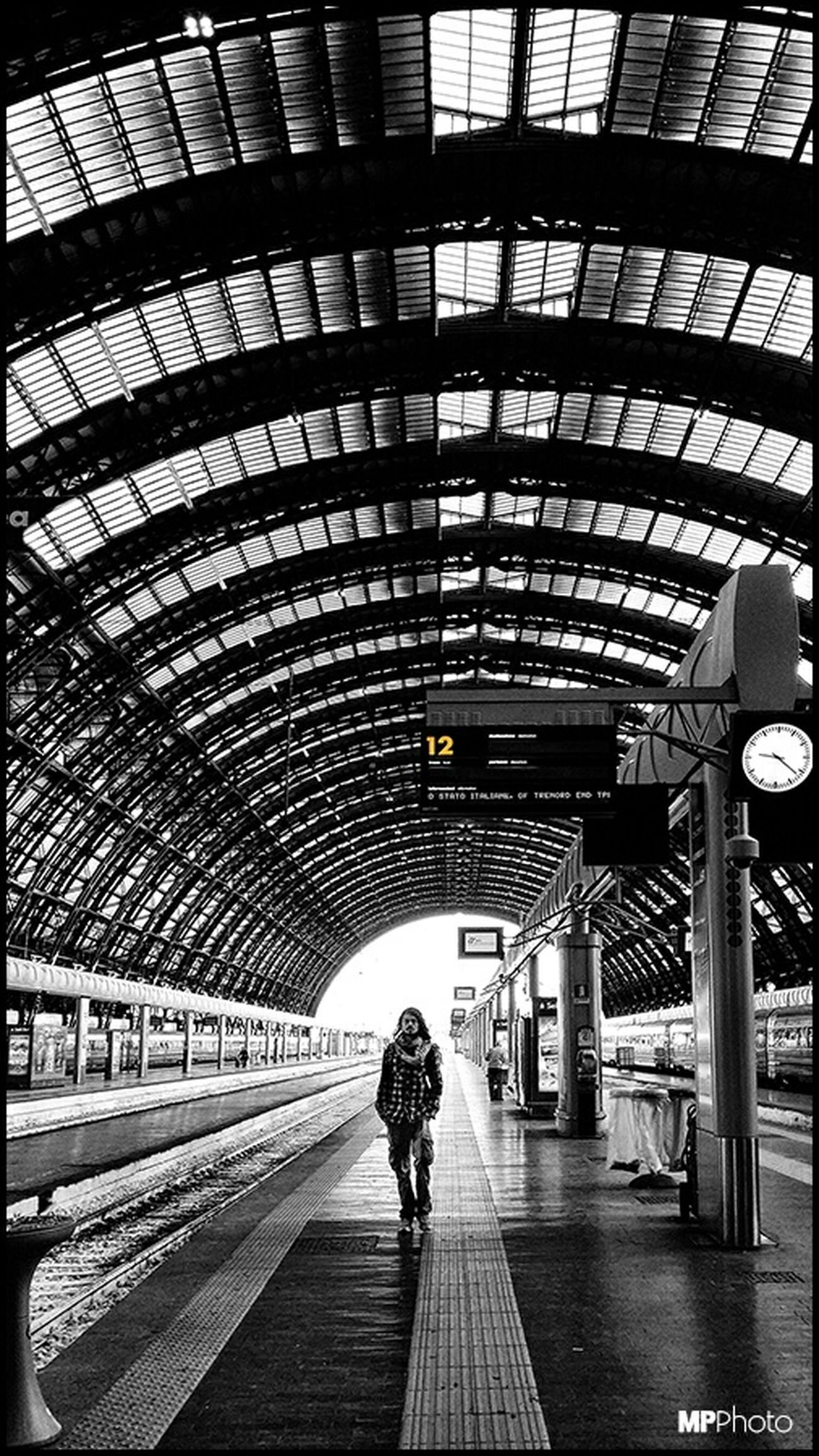 Milan Train Station Black & White Streetphoto_bw Architecture_bw Bw_collection Eye4black&white  EyeEm Best Shots - Black + White