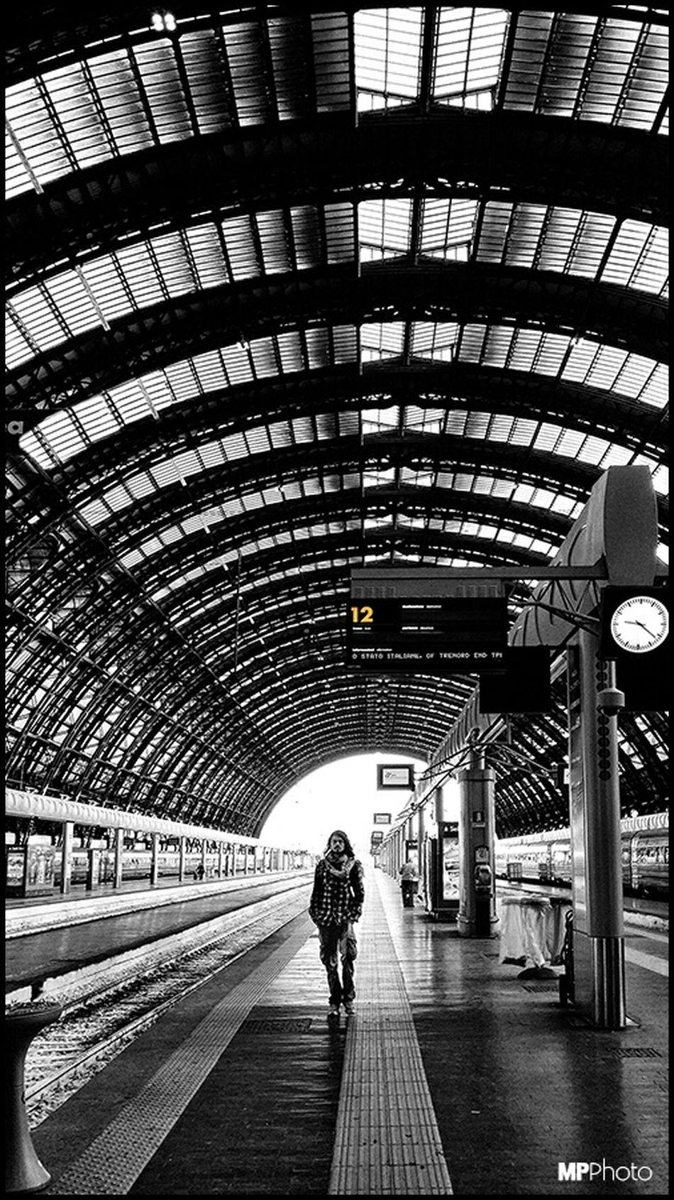 Milan Train Station Black & White Streetphoto_bw Architecture_bw Bw_collection Eye4black&white  EyeEm Best Shots - Black + White