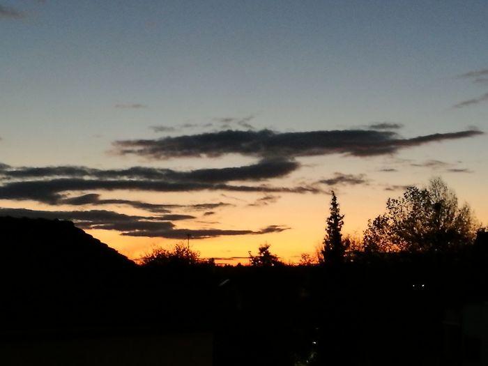 Sonnenuntergang Sky Beauty In Nature Nature No People Cloud - Sky Evening Skyviewers Bietigheim-Bissingen Idyllic Outdoors No Filter, No Edit, Just Photography