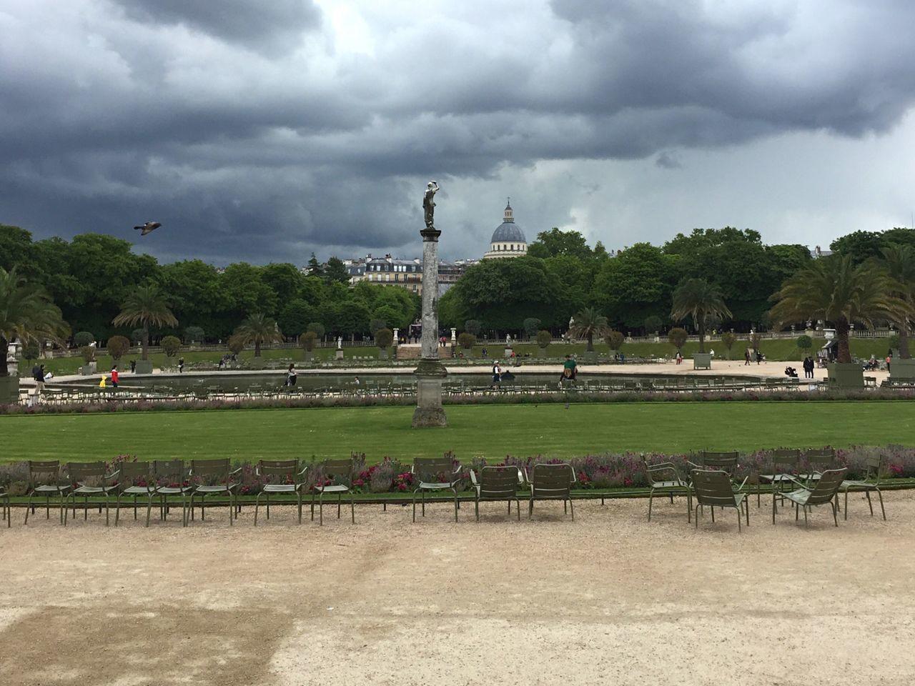 Jardin Du Luxembourg Cloud - Sky Built Structure Outdoors Architecture Nature Paris Chairs
