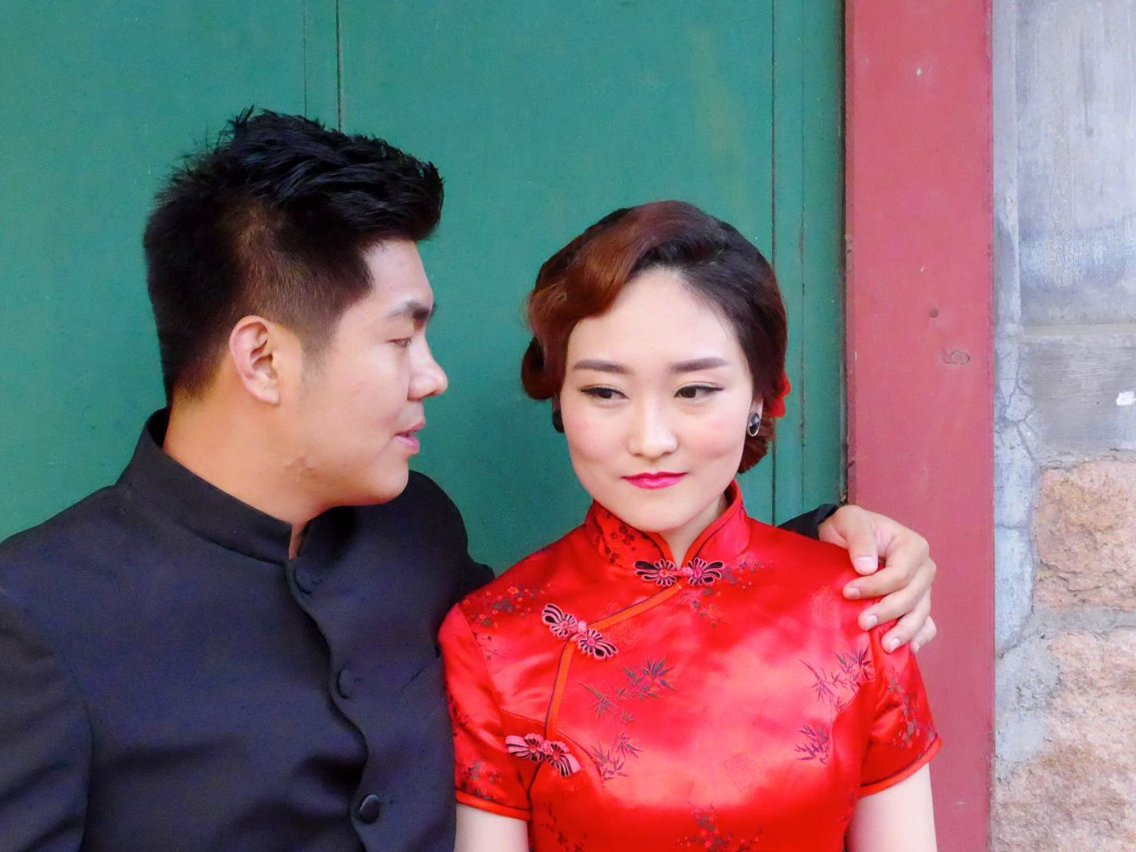 Young Adult Wedding Photography Two People Young Women Love Young Men Lifestyles Black Hair Red Front View Leisure Activity Togetherness Well-dressed Happiness Bonding Architecture China Traditional Clothing China The Portraitist - 2017 EyeEm Awards The Street Photographer - 2017 EyeEm Awards The Photojournalist - 2017 EyeEm Awards China Photos Chinese People Chinese Wedding Traditional Chinese Wedding Outfit