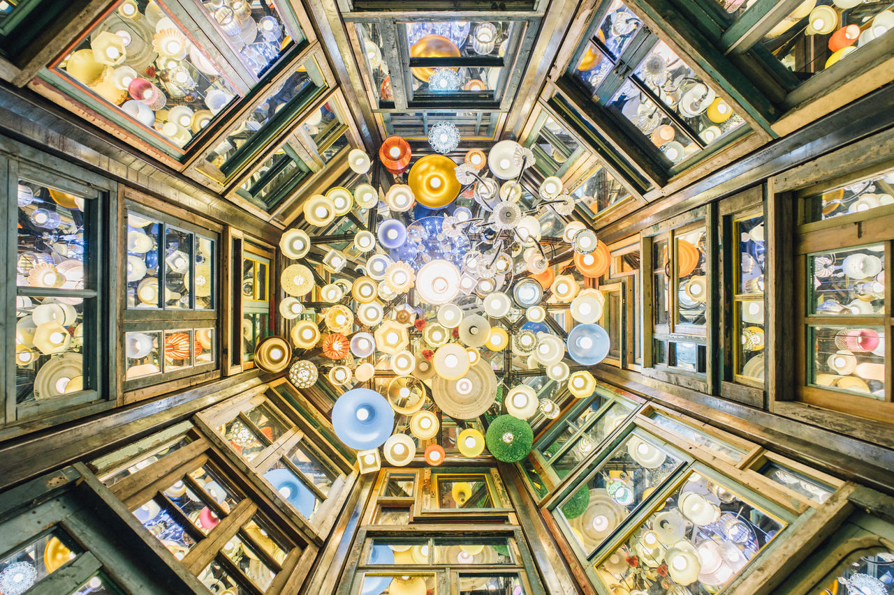 Architecture Architecture And Art Built Structure Ceiling Day Decoration Fresco Indoors  Interior Lights Looking Up Lookingup Lookup No People Travel Destinations Window