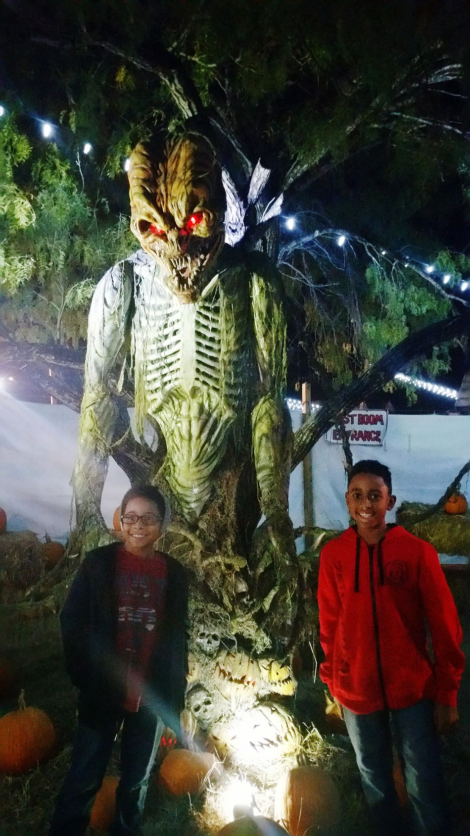 My kids enjoyed the haunted house.