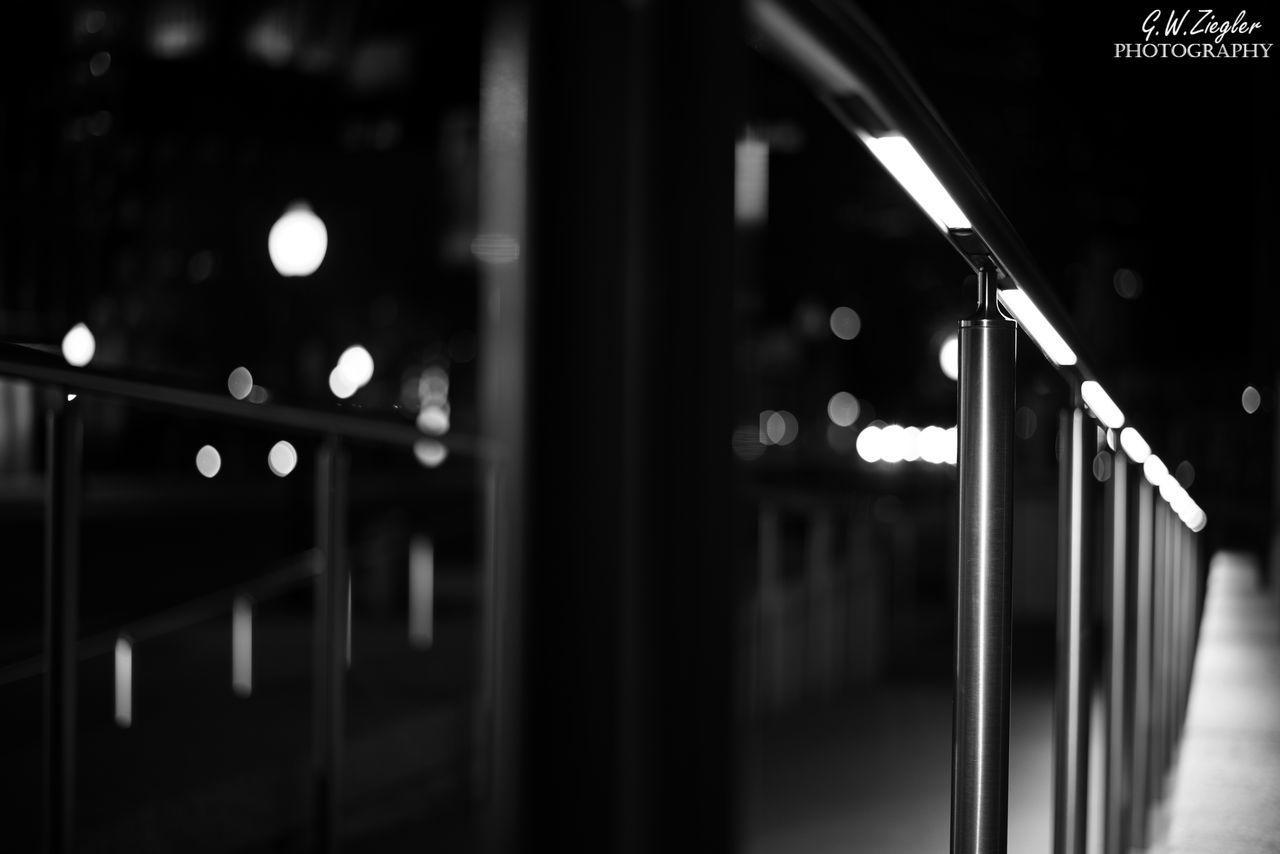 illuminated, indoors, transportation, night, no people, train - vehicle, subway station, close-up