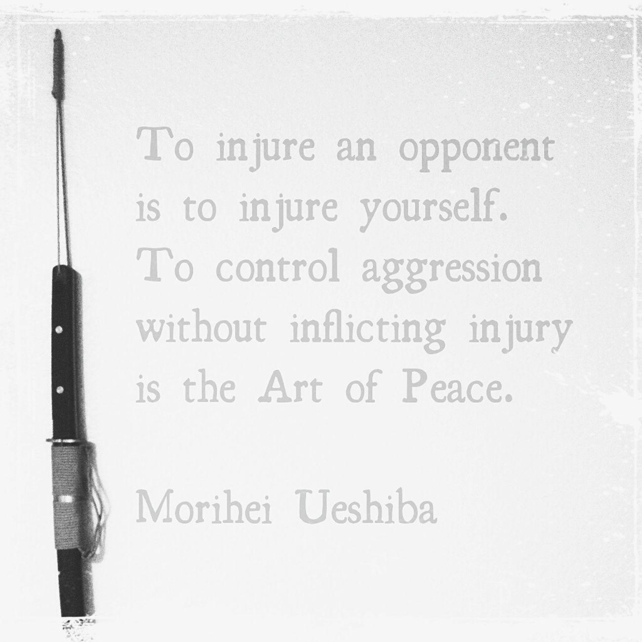 Little something before my Aikido training today... www.aikido.community Aïkido Martialarts Martial Arts Peace Bushido Budo Japanese  Japan Martialart Quote