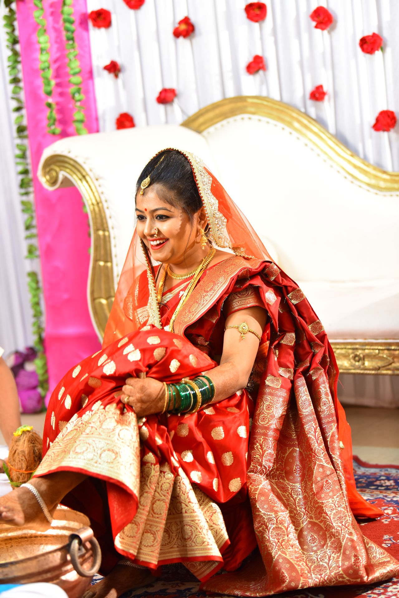 Bride in ceremony Bride Bride Dress Bride Look EyeEm Selects Traditional Clothing One Woman Only Only Women One Person Adult Adults Only Sari Beautiful Woman Smiling Beauty Beautiful People Women Females One Young Woman Only Sitting Cheerful Cultures Happiness People Young Adult