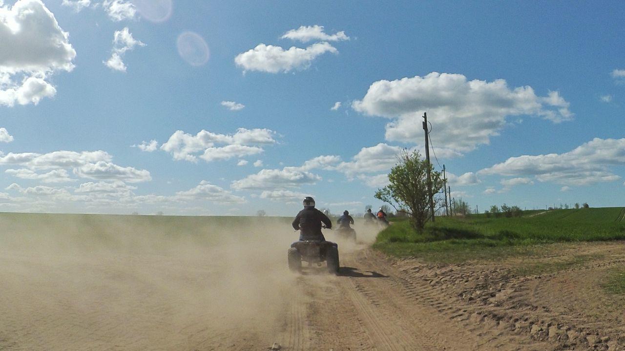 Taking Photos Enjoying Life Dust In The Wind Quadtour Dirty Road Quad Quad Biking