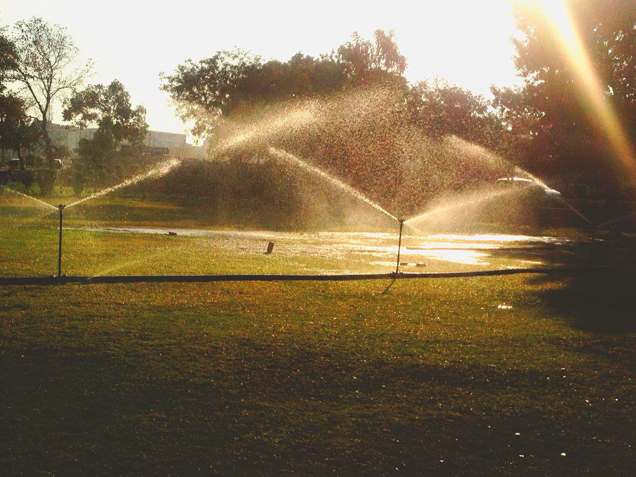 Water Sprinkler .. Sunlight ... EYEEM 1st pic 😍✌🏻️ First Eyeem Photo