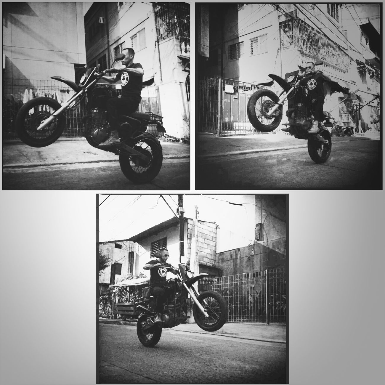 Caferacerculture Caferacer Wheelie Kratocustomcycle playing with my old bike.