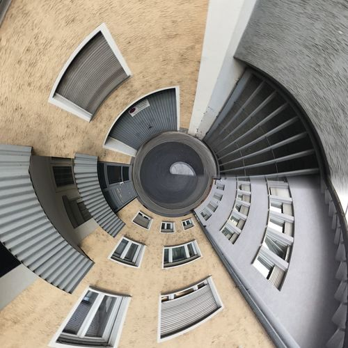 Architecture Staircase Steps And Staircases Spiral Built Structure Building Exterior Spiral Staircase Directly Above Steps Railing Concentric No People Indoors  Day Close-up Streetphotography Colors Modern ArtWork Urban Nature Geometric Shapes Geometric Shape Minimalism Geometry Design