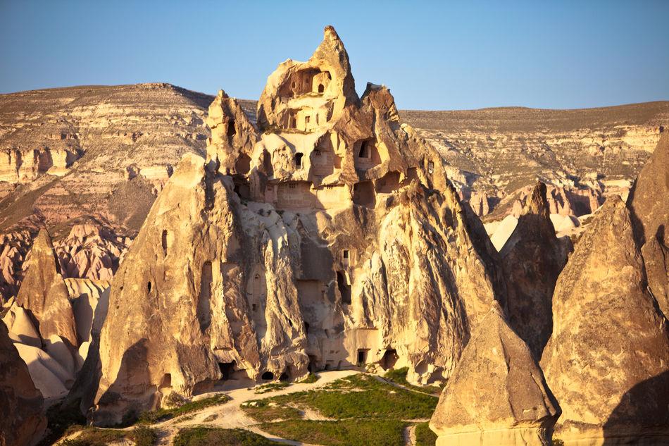 Turkey Anatolia Göreme Fairy Chimneys Cave House Tourism Travel Nobody No People Travel Destinations Cappadocia Turkish Culture History Archaeology