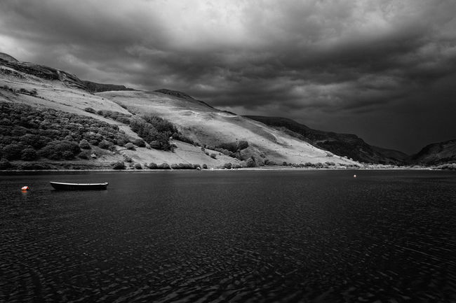 Beauty In Nature Black & White Cloud Cloud - Sky Cloudy Day Idyllic Lake Landscape Mountain Mountain Range Nature No People Non-urban Scene Outdoors Overcast Remote Scenics Season  Sky Tranquil Scene Tranquility Travel Destinations Water Weather