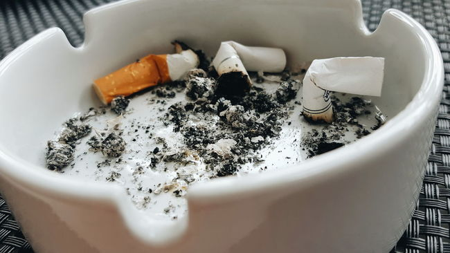 Ash Ashes Ashtray  Close-up Colander Day Horizontal Indoors  No People