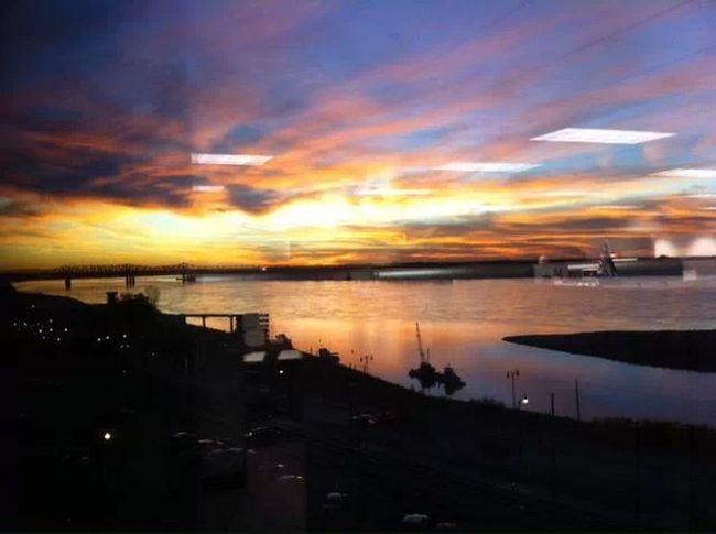 Sunset on the Mississippi Mississippi River Memphis Sunset
