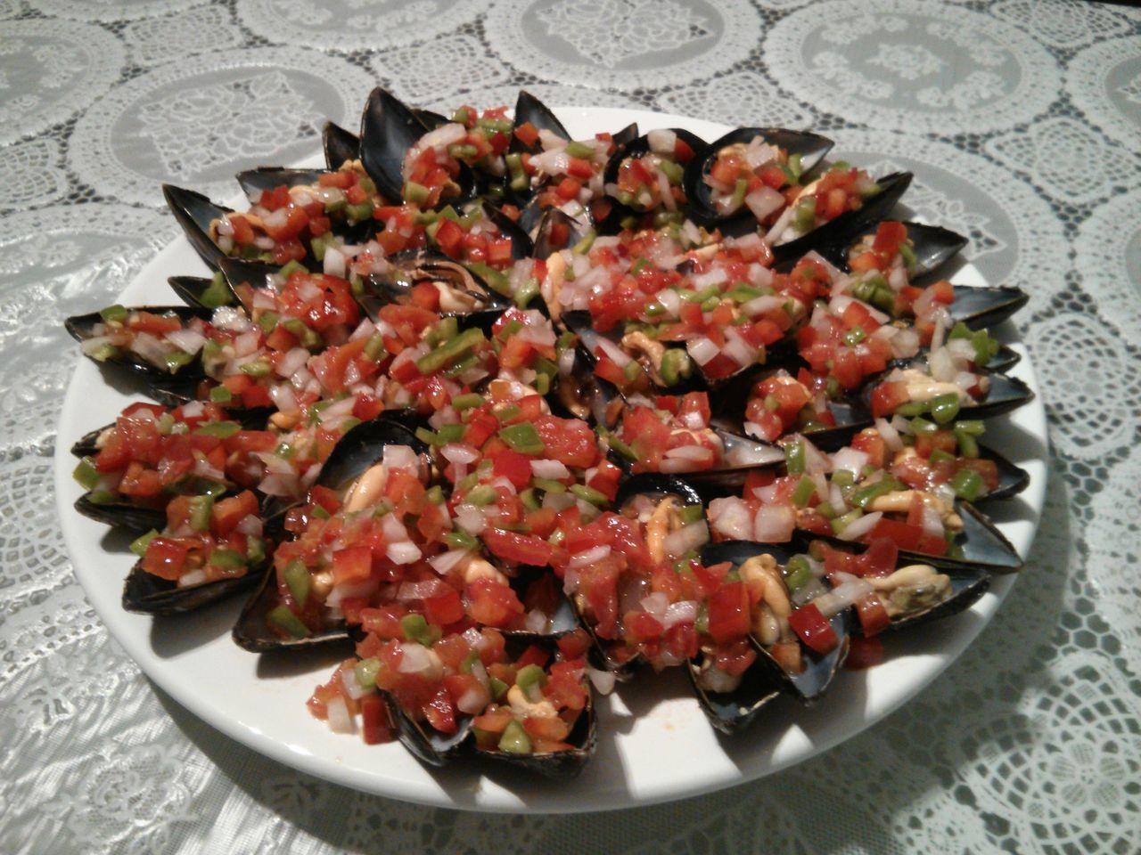 Mejillones con picadillo Food Mejillones Picadillo Food Porn Awards