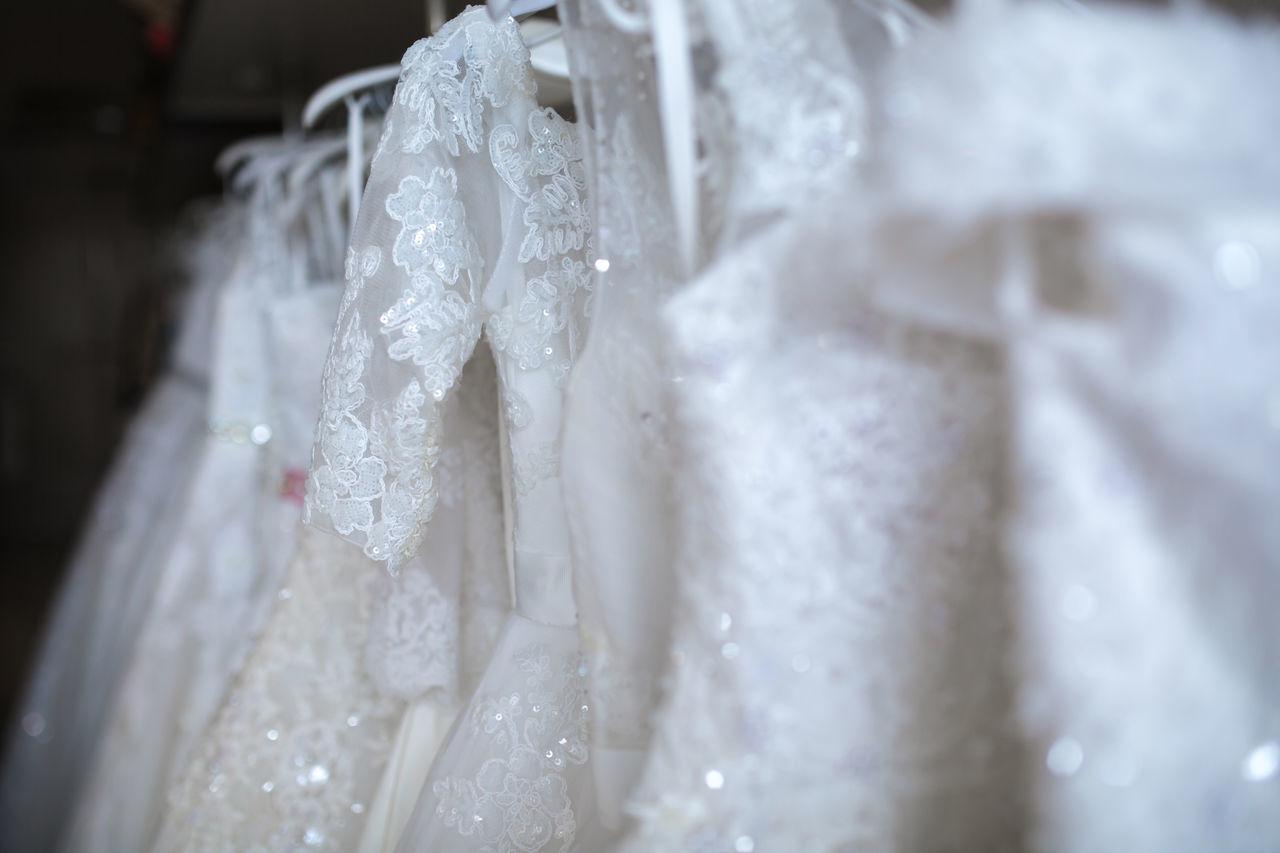 Beauty Boutique Bridal Bride Clothing Decoration Design Dress Elégance Exhibition Fashion Fine Hangers Marriage  Perfect Dress  Satin Silk Wedding Ceremony Wedding Day Wedding Dress Women Fresh On Market 2017