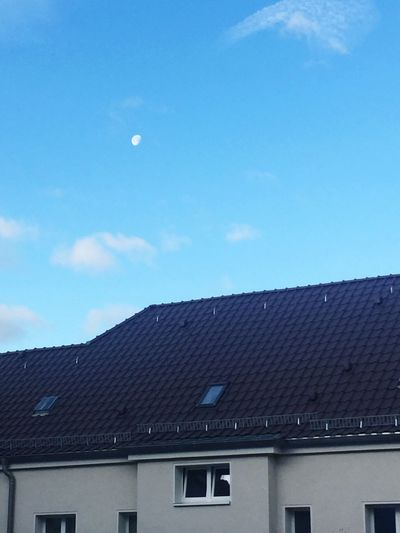 Good Morning Mr Moon Moon Morning Sky Morning Clouds And Sky Clouds Blue Sky Berlin