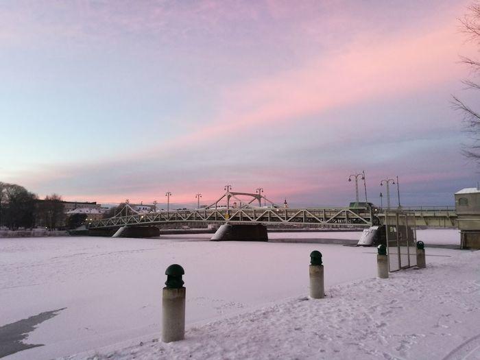 Winter Wonderland Wintertime Bridge View Morning View Morning Sky Morning Walk