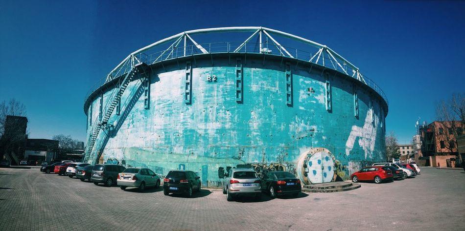 A big tank Building Panaroma