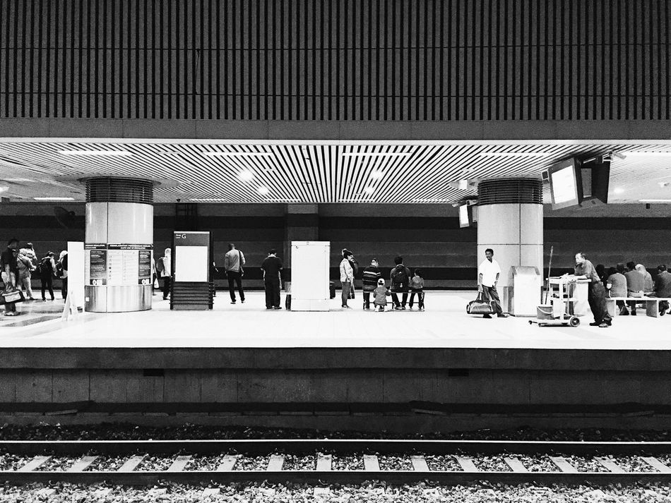 KL Sentral Adult Architecture Day Large Group Of People Men Outdoors Passenger People Public Transportation Rail Transportation Railroad Station Railroad Station Platform Railroad Track Real People Train Station Transportation Women