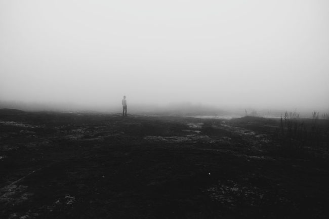 Fog Foggy Weather Mystery Sky Day Outdoors Mist Distant No People Solitude Outline Black & White Black And White Dark Me Myself Far Out VSCO Vscocam VSCO Cam Vscodaily Sony Rx100 M3 Sony Rx100 Iii DaryllSwer