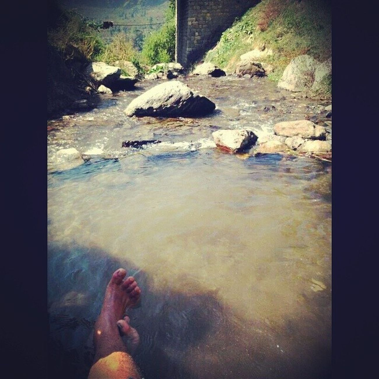 Chilling in the Himalayan waters. Chilling Himalayas Collegetrip Waterfall Bliss Adventuring Travelling Nature India Indian Instaedit Instapic Insta_adventurers Picoftheday Igers