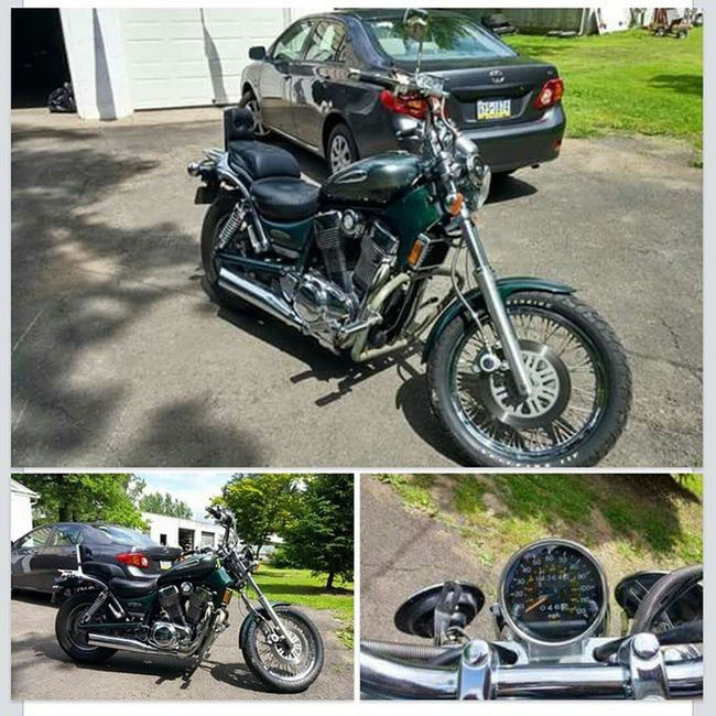 For sale!!!!!! Selling for my dad, he can no longer ride due to health issues!!! 2000 Suzuki intruder 1400cc 14,300 miles, dark green never laid down or crashed, garage kept hunter green Perkasie Pa $2100 OBO Forsale Suzuki Intruder  Suzukiintruder Pennsylvania Perkasie 2000 Japanesebike Motorcycle Japanesemotorcycle Clean Forsalesuzuki1400 Suzukiintruder1400 Suzukicycles Suzukicycles Suzukisale Suzukiforsale