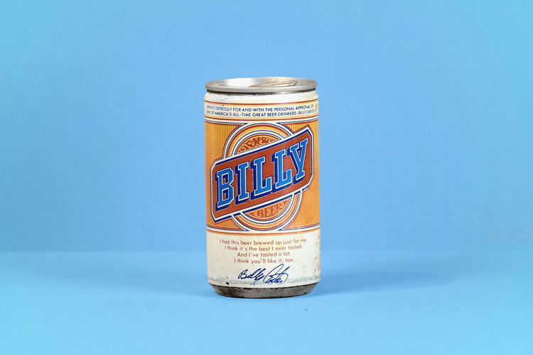 Airtight Blue Blue Background Can Close-up Colored Background Day Drink Food And Drink Indoors  Jar Lid No People Still Life Studio Shot Table