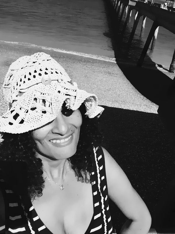 Lovely day & memories.. Being A Beach Bum Sunshine Getting A Tan Sea Enjoying The Sun Black & White My Smartphone Life Streetphotography Portrait Of A Woman Portrait